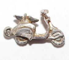 New listing Vintage Vespa Motorcycle Sterling Silver Bracelet Charm / Solid Silver (2g)