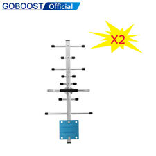 2x 700-2700mhz Full Frequency 12dBi Yagi Antenna for Cell Phone Signal Booster