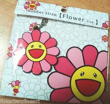 TAKASHI MURAKAMI 'Flower (Pink)' 2013 Rubber Phone Strap / Charm Multiple NEW!