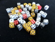 Bag of 54 assorted 6 sided dice from various games