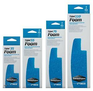 Seachem Laboratories Tidel Foam Sponge For Tidal  Filters Blue 2 pk
