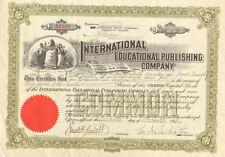 International Educational Publishing Co > 1931 Penn Scranton stock certificate
