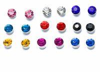9 SET Crystal Diamante MAGNETIC Clip on Earrings Stud Kids Womens GIRLS clipon