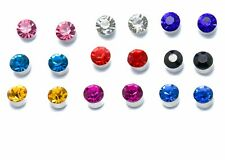 9 SET Crystal Diamante MAGNETIC Clip on Earrings Stud Kids Womens GIRLS clipon