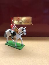 W. BRITAINS THE LIFE GUARDS METAL MOUNTED TRUMPETER TOY SOLDIER FIGURE