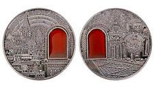 Kremlin Silver Coin Medal Hammer & Sickle Embossed Mineral Art Lennin Moscow USA