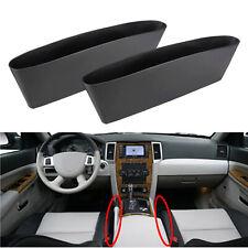 2x Black Car Seat Seam Pouch Bag Storage Organizer Holders For Accessories