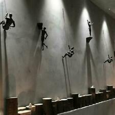 Kreative Klettern Mann Harz Eisendraht Wandbehang Dekoration Skulptur Figuren