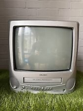 "Bush BTV18SIL 14"" Retro Gaming CRT TV VCR Combi"