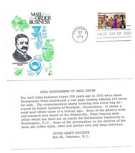 1468 Mail Order, Cover Craft Cachets, CCC, FDC