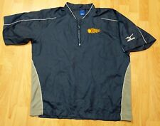 Mizuno Blue Quarter Zip Short Sleeve Pullover Windbreaker Blazers flames Men's S