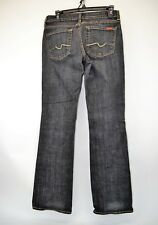7 SEVEN FOR ALL MANKIND Women's Black Straight Leg Jeans Size 28 X 32 (C9)