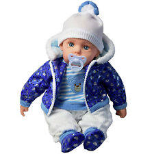 """20"""" Lifelike Large Size Soft Bodied Baby Doll Girls Boys Toy With Dummy & Sounds"""