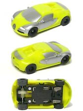 2015 Micro Scalextric  Bugatti Veyron Hyper HO Slot Car NEON LIME 1:64 G1108