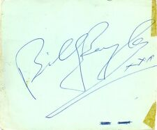 Billy Boyle signed autograph album page 1960s The Basil Brush Show Irish Actor