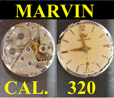 marvin 320 cal movimento movement manual old watch dial 17,5 M for parts vintage