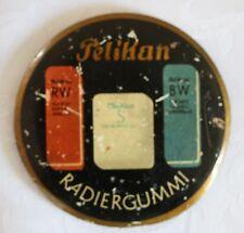 alter Briefbeschwerer, Pelikan, Radiergummi, Metall, Werbeartikel