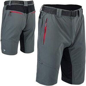 Silvini Men's RANGO Mountain Bike Cycling Shorts 5XL 6 Pockets Charcoal Grey Red