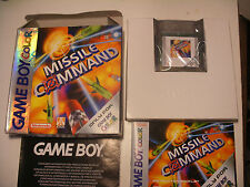 jeu GBA NINTENDO Game Boy Color MISSILE COMMAND Atari Complet