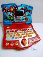 VTECH Marvel Super Hero Squad Learning Laptop Computer Toy Games 2010 TESTED EUC