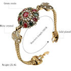 New Bohemian Retro Bracelet Alloy Agate Red Resin Bangle Roman Women Jewelry