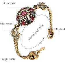 Bohemian Retro Bracelet Alloy Agate Red Resin Bangle Roman Women Jewelry