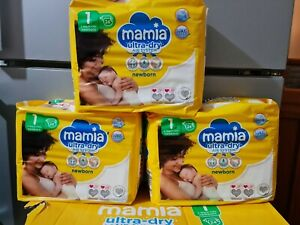 6 X MAMIA NEW BORN SIZE 1 NAPPIES PACK OF 24 (144 IN TOTAL) !!!FREE DELIVERY !!!