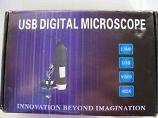 2.0MP  20x400  8 LED Light USB Digital Microscope  Magnifier Video