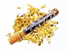5 x Konfetti Regen gold 60cm Silvester Kanone Shooter Konfettibombe Partypopper