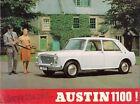 Austin 1100 Mk1 Saloon 1963-65 UK Market Sales Brochure Standard De Luxe