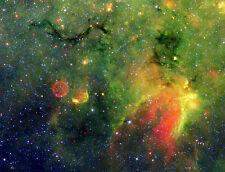 Supernova remnant Spitzer Hubble JPL NASA space telescope photo PIA01318