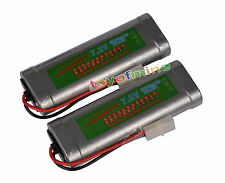 7.2V 6800mAh Ni-MH Rechargeable Battery RC Tamiya x2