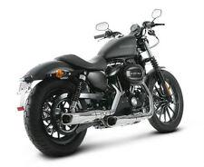 Akrapovic Slip-On Mufflers (Chrome) - Harley Davidson XL Sportster Model (06-12)
