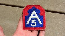 WW2 US ARMY MILITARY 5th Army SSI INSIGNIA PATCH AFRICA ITALY