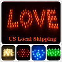 16/24 PCS Flameless Votive Candles Battery Operated Flickering LED Tea Light USA
