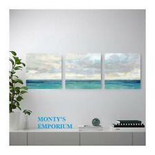 NEW IKEA Wall Picture Set Of 3 PJATTERYD On Canvas Ocean Sky