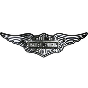 Harley-Davidson Aufkleber 3D Revamped silber/schwarz