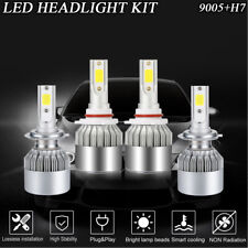 2 Pairs H7+9005 LED Headlight Conversion Kit Bulb For Subaru Legacy 2005-2008