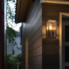 Rectangular Glass Outdoor Outside External Exterior Lantern Stainless Wall Light