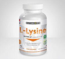 L-LYSINE 1000mg 150 Comprimés Herpès Labial Acide Aminé 1 Bouteille Fabriqué GB