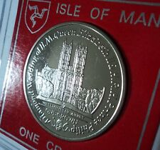 2007 Isle of Man The Queen & Prince Philip Westminster Abbey Crown Coin BU Gift