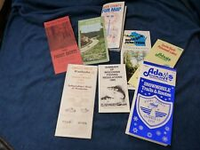 Wisconsin maps and travel,tourist brocheres 1970's and 1980's