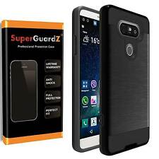 Heavy-Duty Shockproof Case Guard + Tempered Glass Screen Protector For LG V20