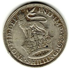 1932 12d 1s Silver ONE SHILLING twelve pence King George V (a)