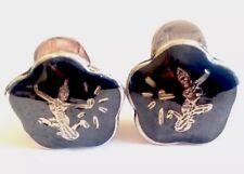 Vintage Siam Silver Clip On Earrings