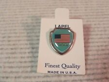 USA Flag Lapel Pin Vintage Tourist Souvenir Shield hat new old stock Made in USA