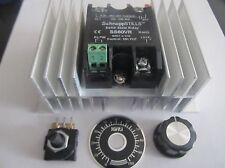 60A SSVR w/ potentiometer, knob and heat sink 0-240v 1 YEAR WARRANTY!!!