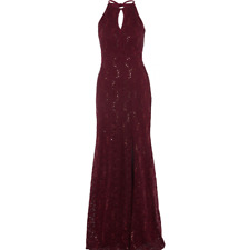 New Morgan&Co ladies evening dress Burgundy Size UK10 RRP £149