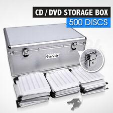 CD / DVD Storage Box Lockable Aluminium Case - 500 Discs