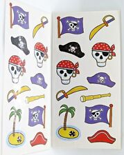 Pirate Skull & Crossbones Spyglass Glitter Accents 2 Sheets MAMBI Stickers